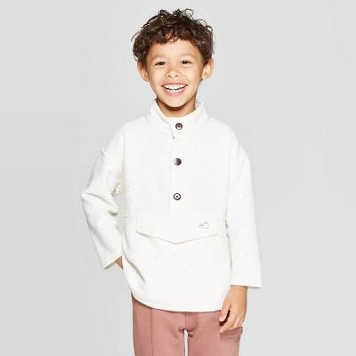 Toddler Boys' Henley Pullover Sweatshirt - art class™ Ivory 12 M