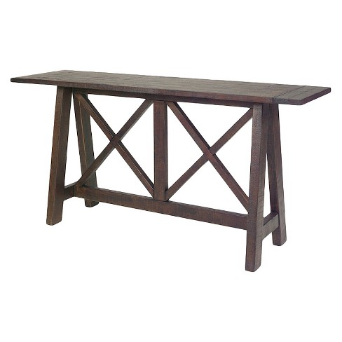Vineyard Console Table - Distressed Root Beer - Progressive Furniture - image 1 of 1