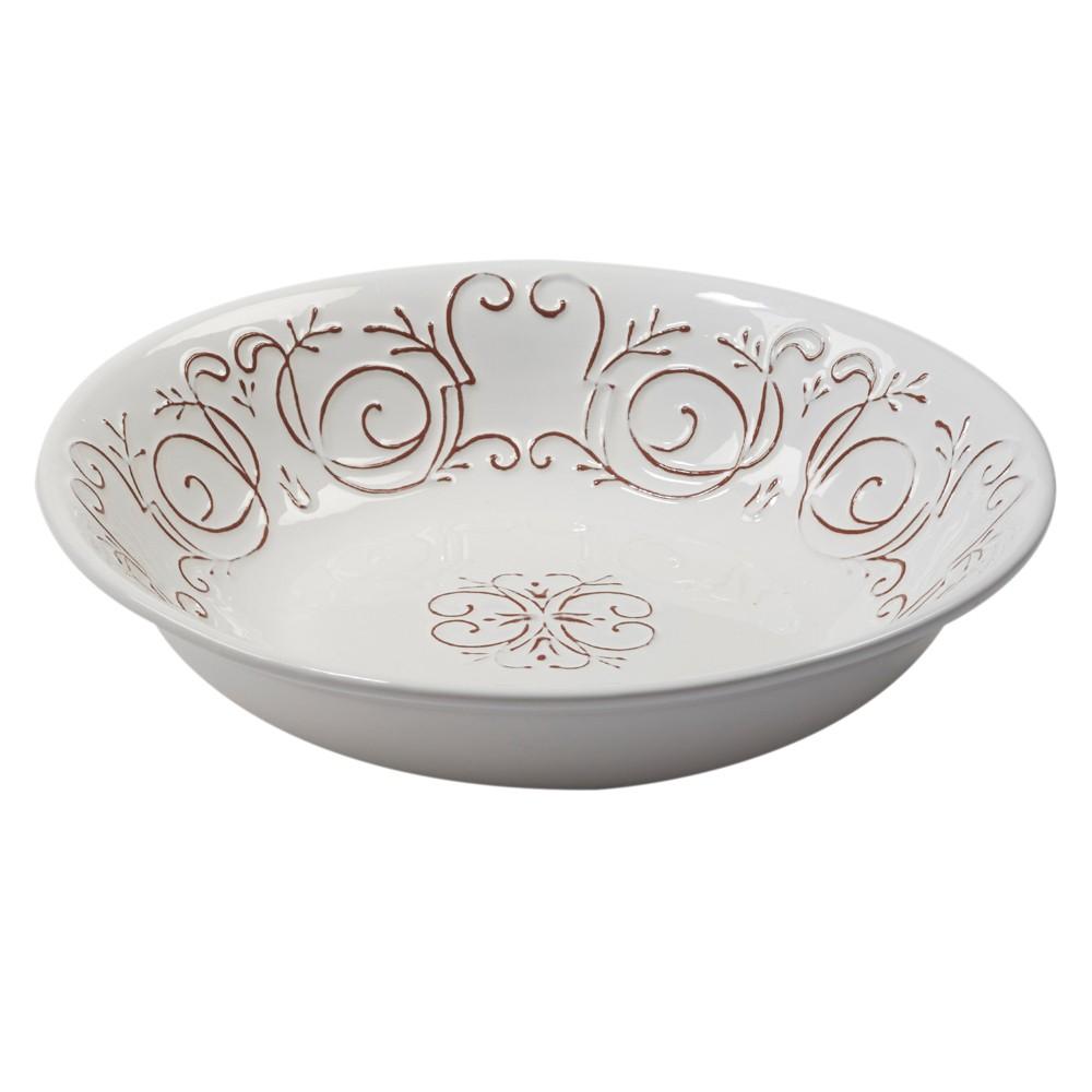 Certified International Terra Nova Ceramic Serving Bowl 112oz - White/Brown