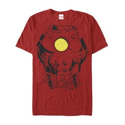 Men's Marvel Halloween Iron Man Costume T-Shirt