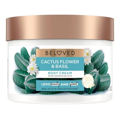 Beloved Cactus Flower & Basil Body Cream Lotion- 10oz