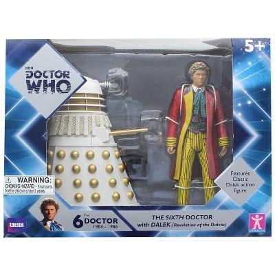 Seven20 Doctor Who 6th Doctor w/ Dalek 6 Inch Figure Set - Revelation of the Daleks