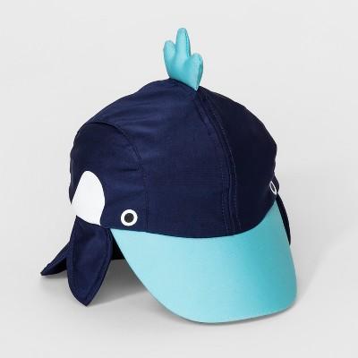 Baby Boys' Whale Sun Hat - Cat & Jack™ Blue 6-12M