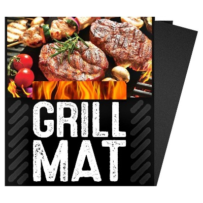 Bbq Grill Sheets Mat ,100% Non Stick Safe ,Extra Thick,Reusable and Dishwasher Safe, 3pc of (13 X15.75 )- G&F 10037-3