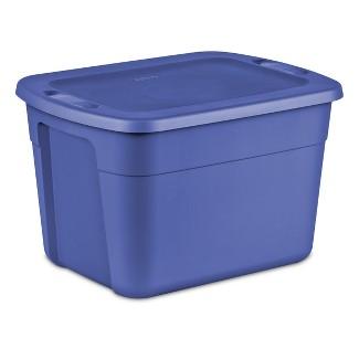 Room Essentials 18 Gal Tote Blue