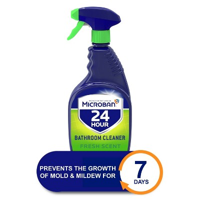 Microban 24 Hour Bathroom Cleaner and Sanitizing Spray - Fresh Scent - 32 fl oz