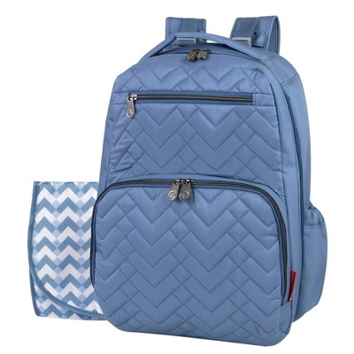 Fisher-Price Morgan Quilted Backpack - Slate Blue