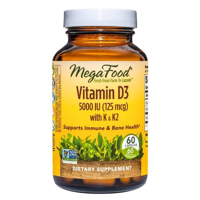 MegaFood Vitamin D3 5000 IU Capsules - 60ct