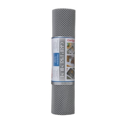 Con-Tact Brand Grip Premium Non-Adhesive Shelf Liner- Thick Grip Alloy Gray (18''x 8')
