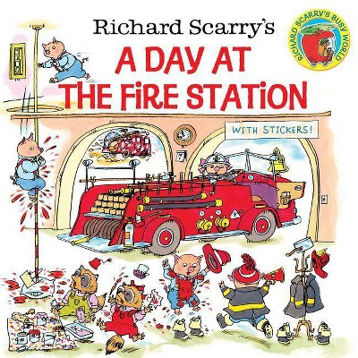 Richard Scarry's a Day at the Fire Station - (Pictureback(r)) by  Huck Scarry (Paperback)