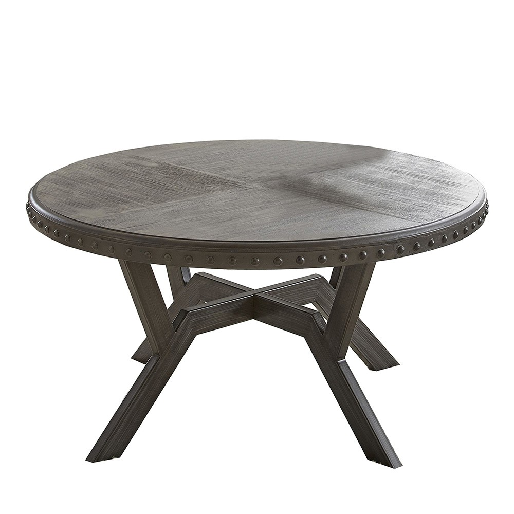 Alamo Round Cocktail Table Gray Steve Silver
