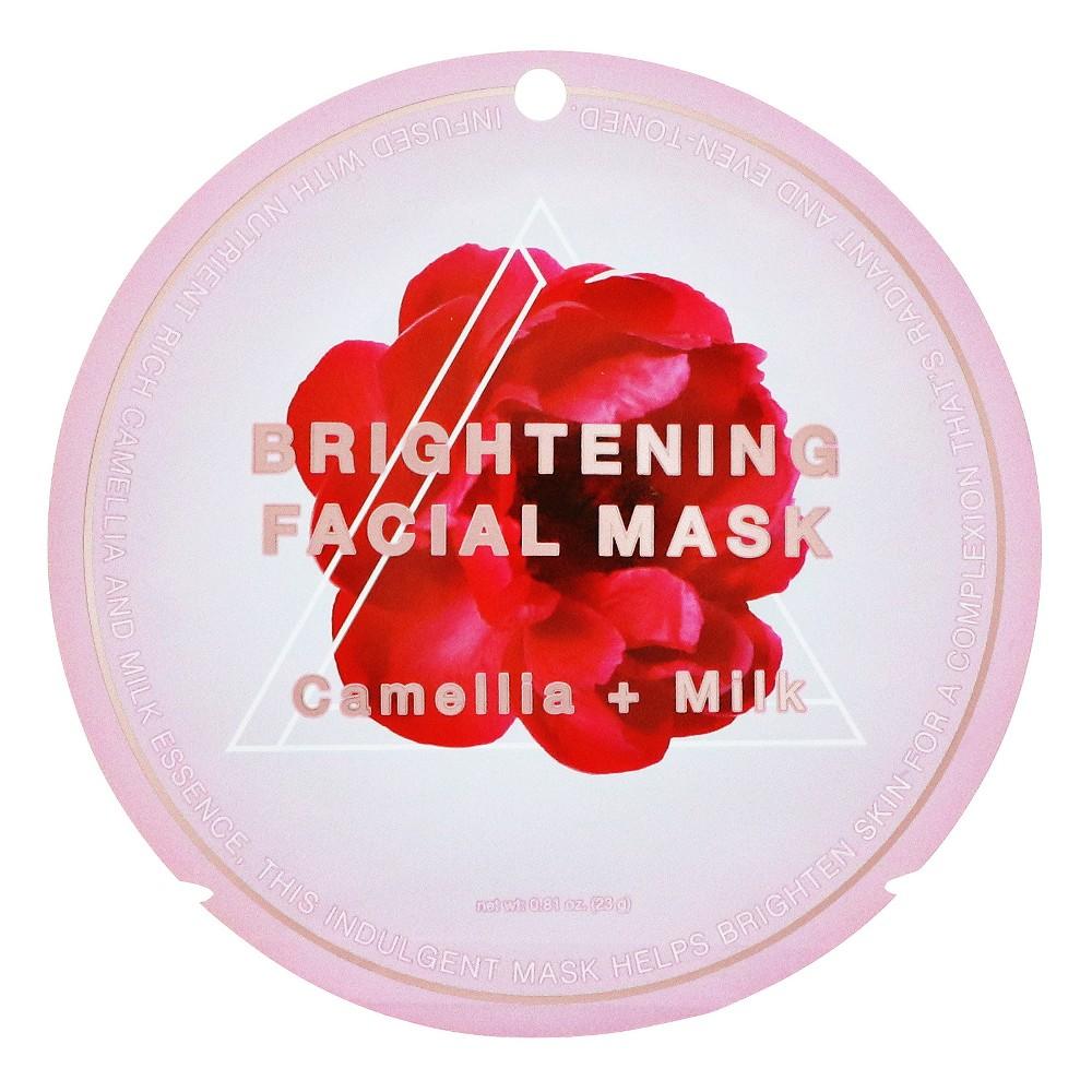 My Spa Life Camella And Milk Brightening Facial Mask - 0.81oz