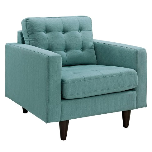 Empress Upholstered Armchair Laguna - Modway - image 1 of 5