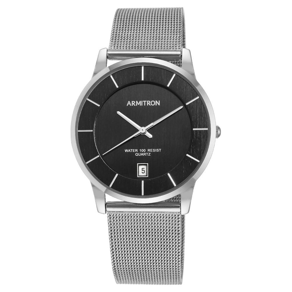Image of Armitron Men's Mesh Bracelet Watch - Silver, Men's, Size: Small