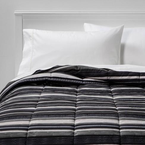 Microfiber Stripe Reversible Comforter - Room Essentials™ - image 1 of 4