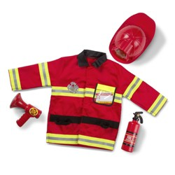 Melissa & Doug Fire Chief Role Play Costume Dress-Up Set (6pc)