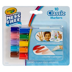 Crayola Color Wonder Markers, Mess Free - 10 Classic Colors