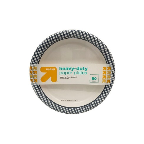 "Heavy Duty Disposable 10"" Paper Plates - 80ct - Up&Up™ - image 1 of 4"