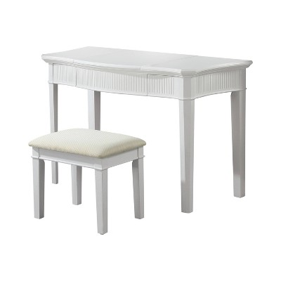 2pc Pruett Vanity Set with Stool - White/Ivory - HOMES: Inside + Out