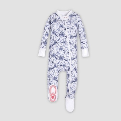 Burt's Bees Baby® Baby Girls' Organic Cotton Daisy Floral Footed Sleeper - Light Blue 0-3M