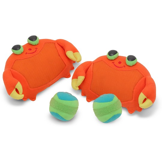 Melissa & Doug Sunny Patch Clicker Crab Toss and Grip Catching Game With 2 Balls image number null