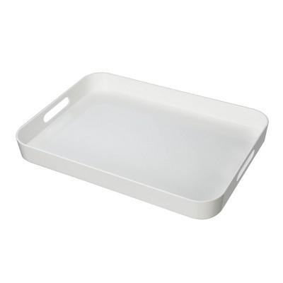 Felli Acrylic Serving Tray 19  x 13.6  - White