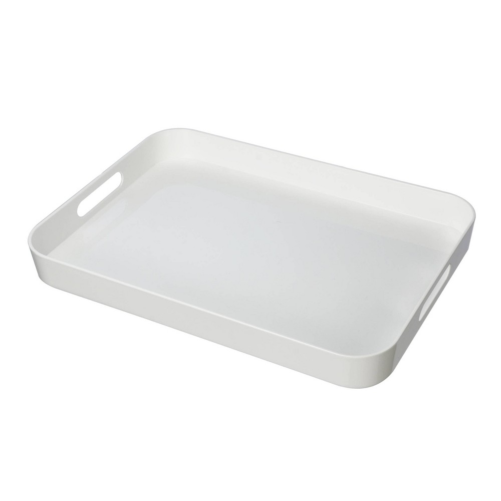 "Image of ""Felli Acrylic Serving Tray 19"""" x 13.6"""" - White"""