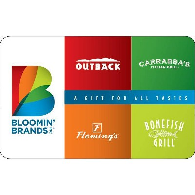 Bloomin' Brands Gift Card $25 (Email Delivery)