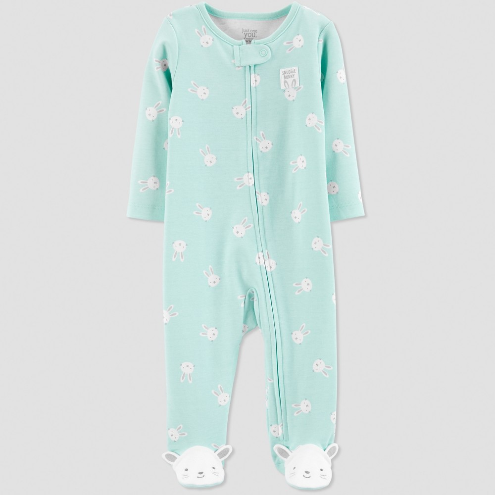 Baby Girls' Snuggle Bunny Sleep 'N Play - Just One You made by carter's Mint 9M, Blue