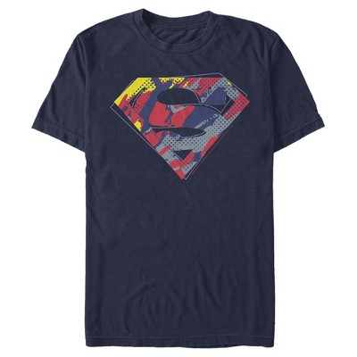 Men's Superman Logo Paint Splatter T-Shirt