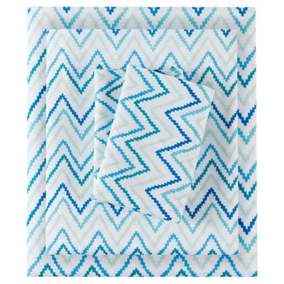 Sheet Sets Green Blue Non-woven Fabric KING