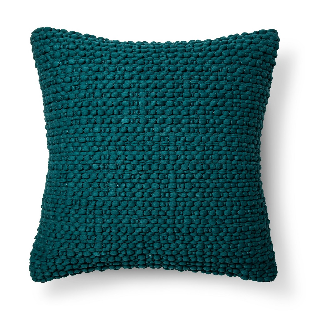 Blue Textured Throw Pillow - Threshold, Sarcelle Teal Opaque