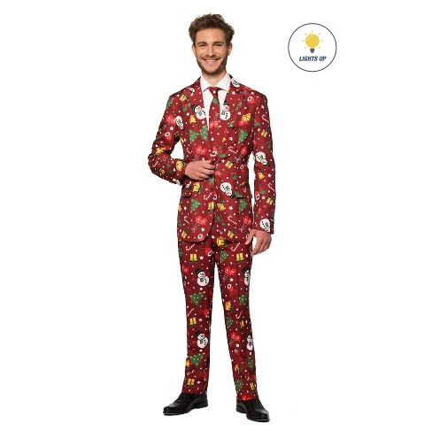 Men's Light-Up Christmas Icons Costume Suit - image 1 of 3