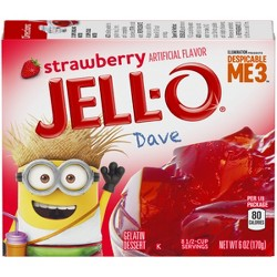 Jell-O Gelatin Strawberry - 6oz