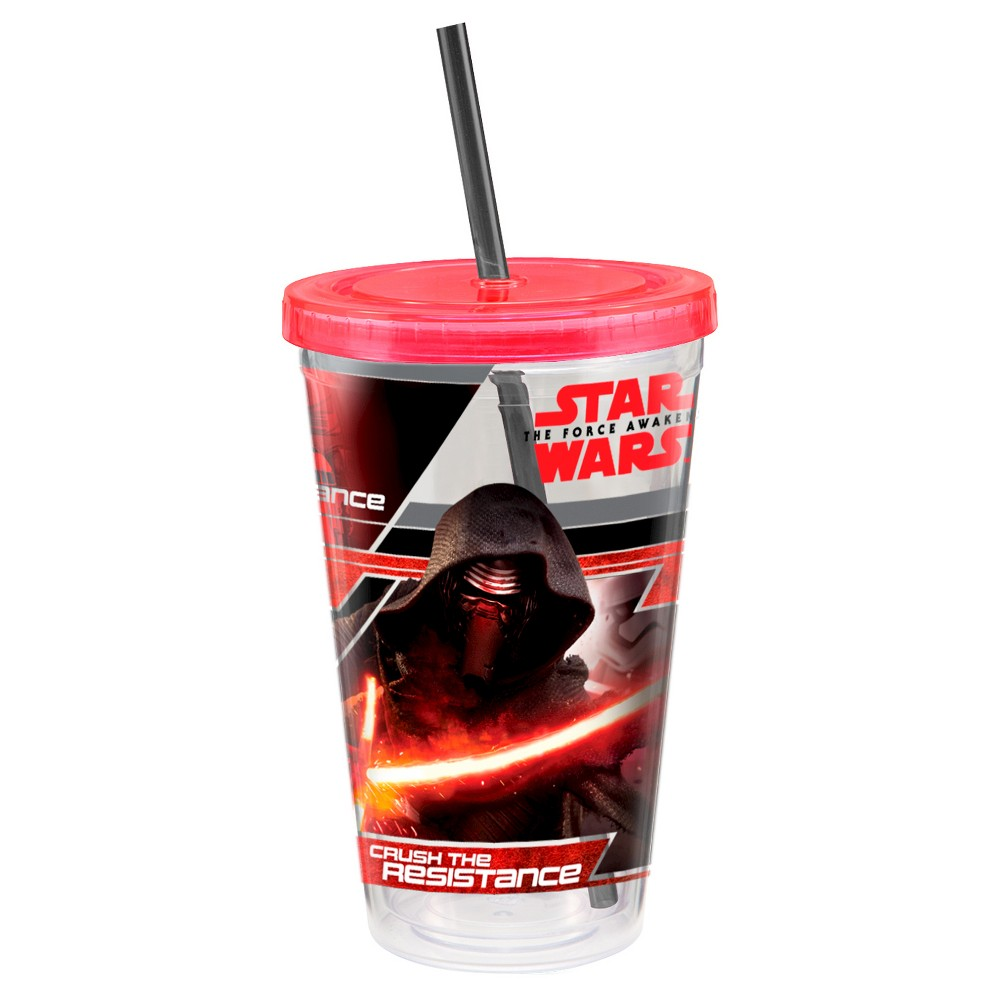 Star Wars Straw Tumbler 18oz Acrylic, Multi-Colored