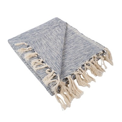 Variegated Throw Blanket Nautical Blue - Design Imports