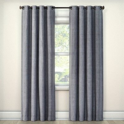 Rowland Blackout Curtain Panel Light Gray (52 x84 )- Eclipse™