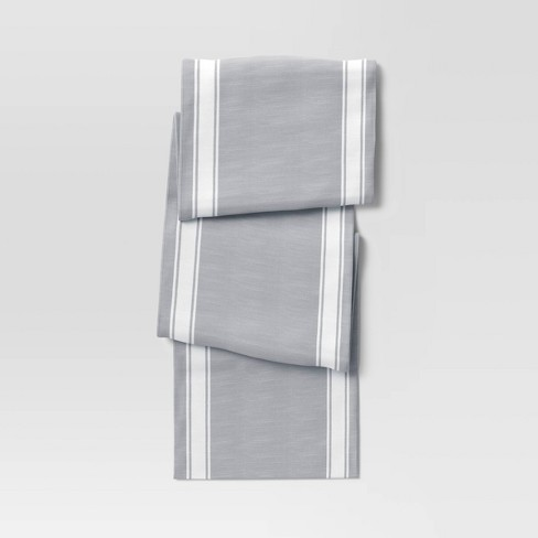 Cotton Striped Bistro Table Runner Gray - Threshold™ - image 1 of 3