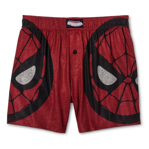 Men's Marvel® Spider-Man Pog Boxer Shorts - Red S - image 1 of 1