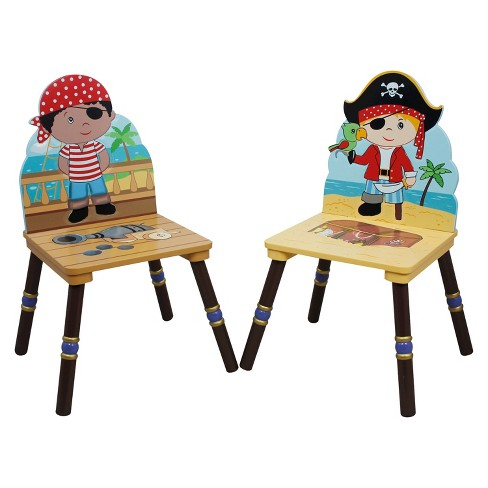 Fantasy Fields Pirates Island Chair Wood (Set of 2) - Teamson - image 1 of 6