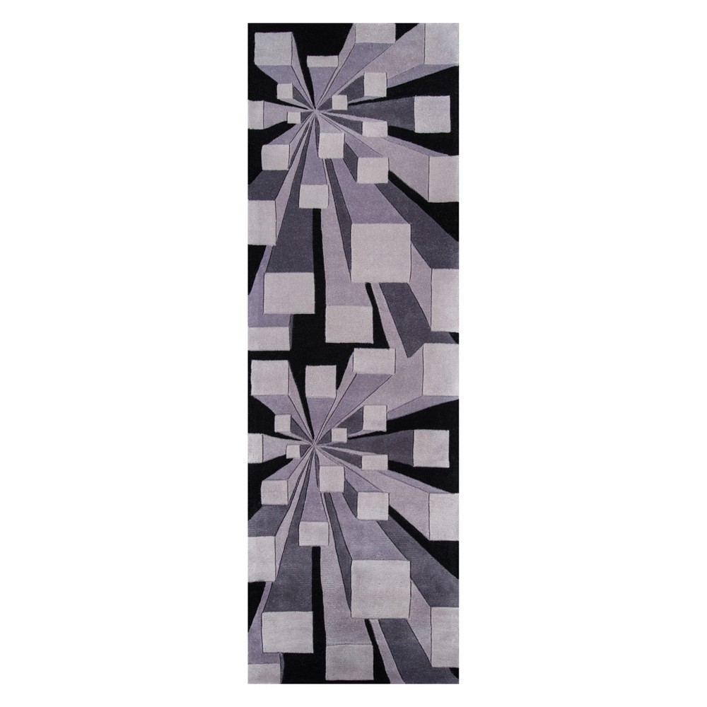 2'6X12' Geometric Tufted Runner Gotham - Momeni