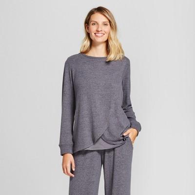 Women's Nursing Marled Tulip Pajama Top - Gilligan & O'Malley™ - Black XL