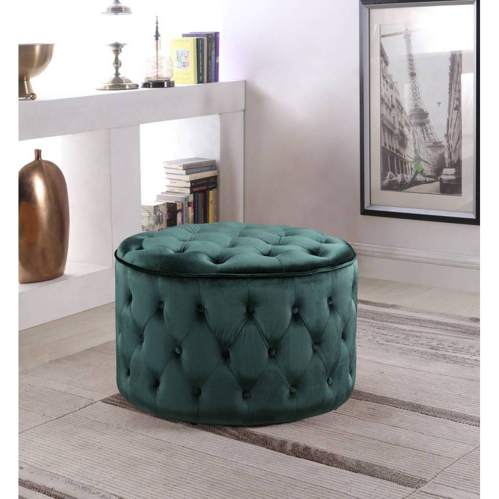 Adna Ottoman Green - Chic Home Design was $279.99 now $195.99 (30.0% off)
