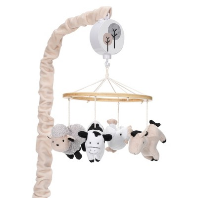 Lambs & Ivy Baby Farm Animals Musical Baby Crib Mobile Soother Toy
