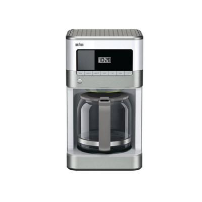 Braun BrewSense 12-cup Drip Coffee Maker - KF6050WH - Stainless Steel/White