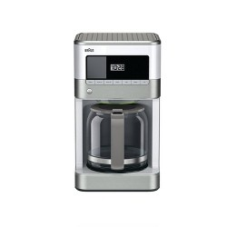 Braun BrewSense 12-cup Drip Coffee Maker - KF6050WH - Stainless Steel/White