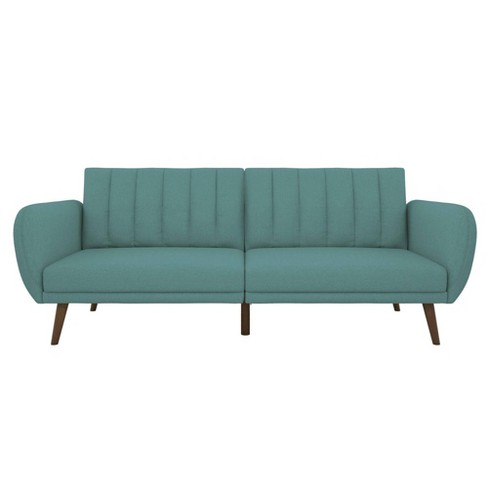 Sensational Brittany Linen Futon Light Blue Novogratz Andrewgaddart Wooden Chair Designs For Living Room Andrewgaddartcom