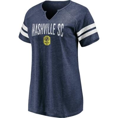 MLS Nashville SC Women's Gray V-Neck T-Shirt