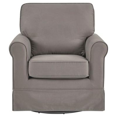 Burian Swivel Armchair Gray - Inspire Q