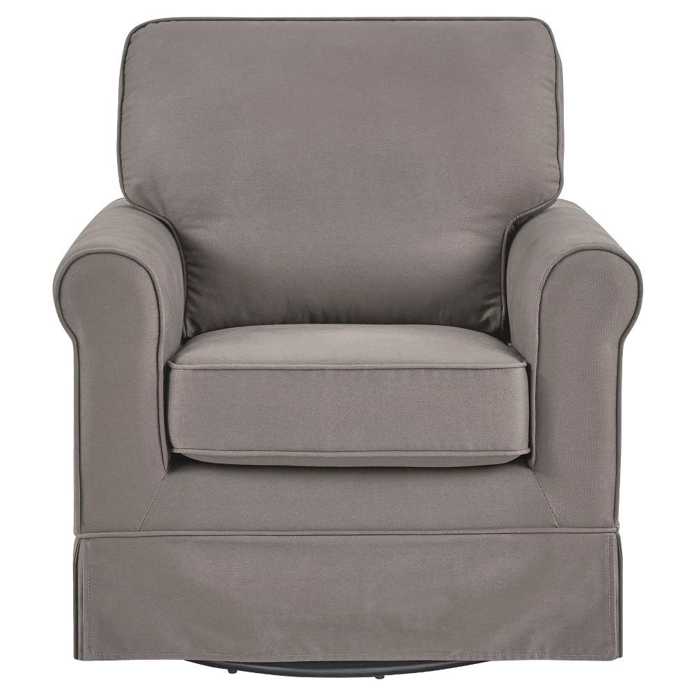 Burian Swivel Rocking Arm Chair Gray - Inspire Q